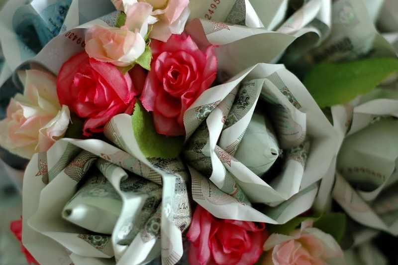 Тайский свадебный букет